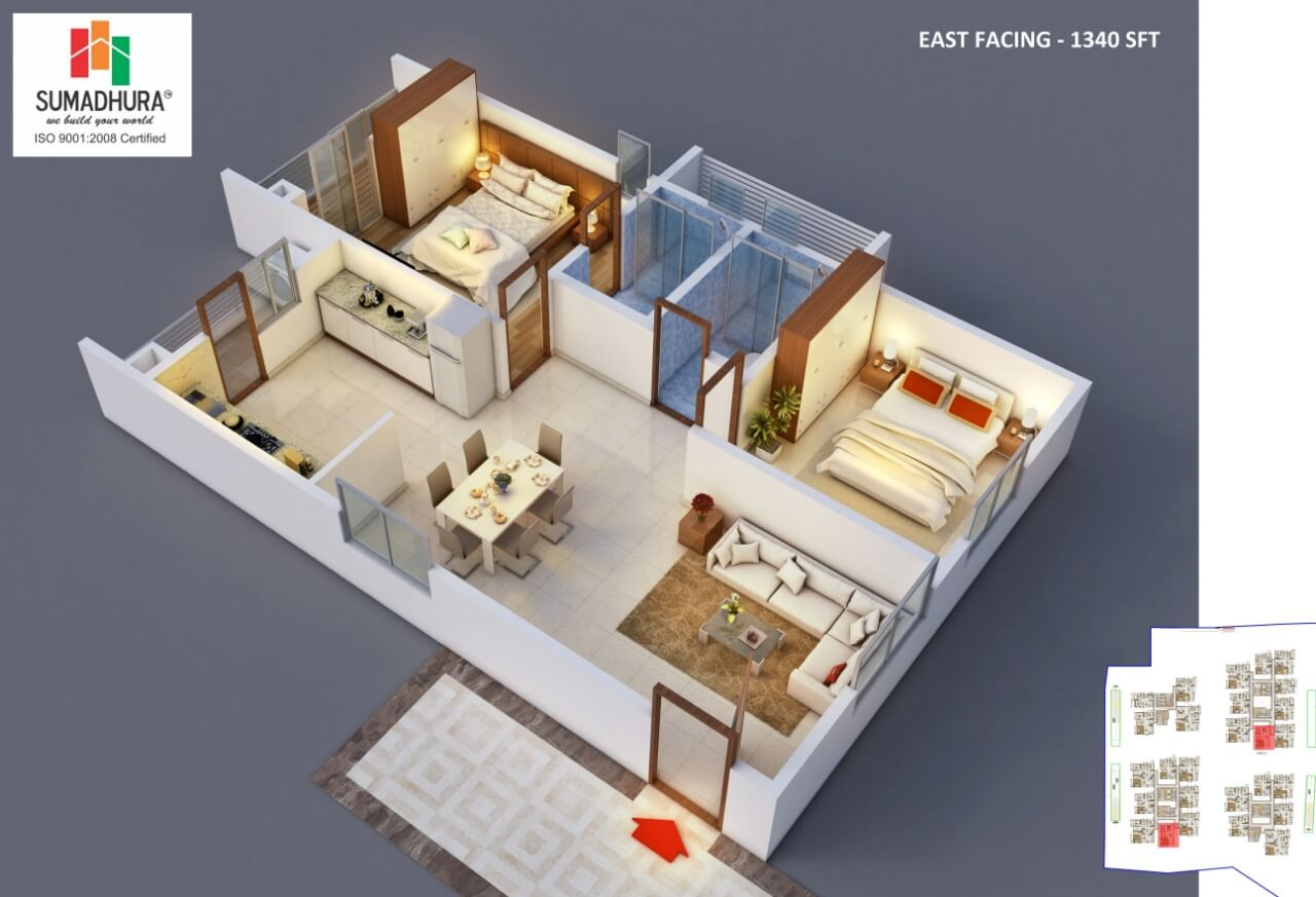 sumadhura horizon apartment 2bhk 1340sqft 1
