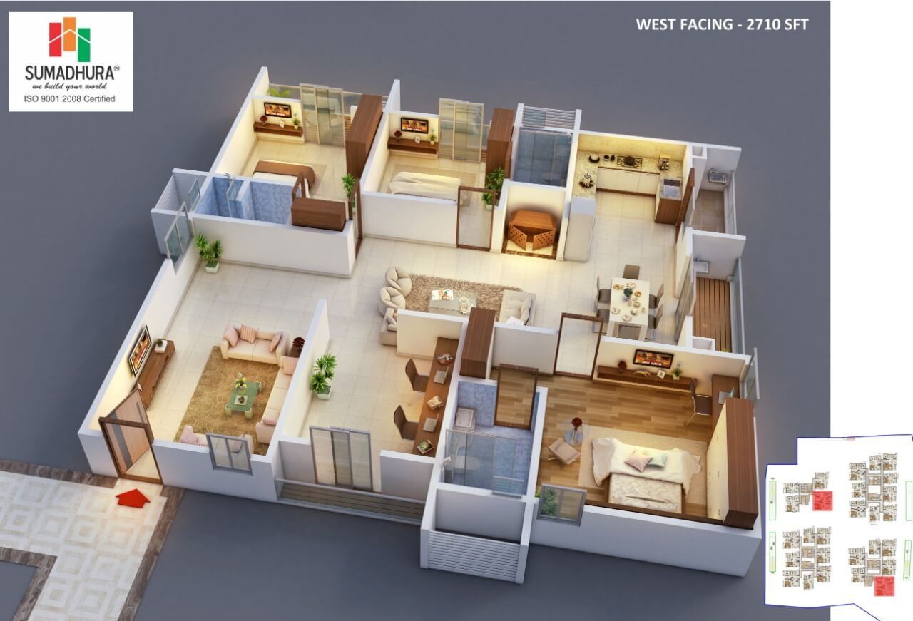 sumadhura horizon apartment 3bhk study 2710sqft 1