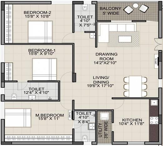 technopolis solitaire pride apartment 3 bhk 1865sqft 20214007134007