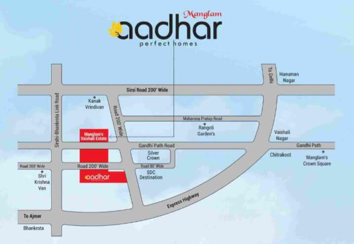 manglam aadhar location image1