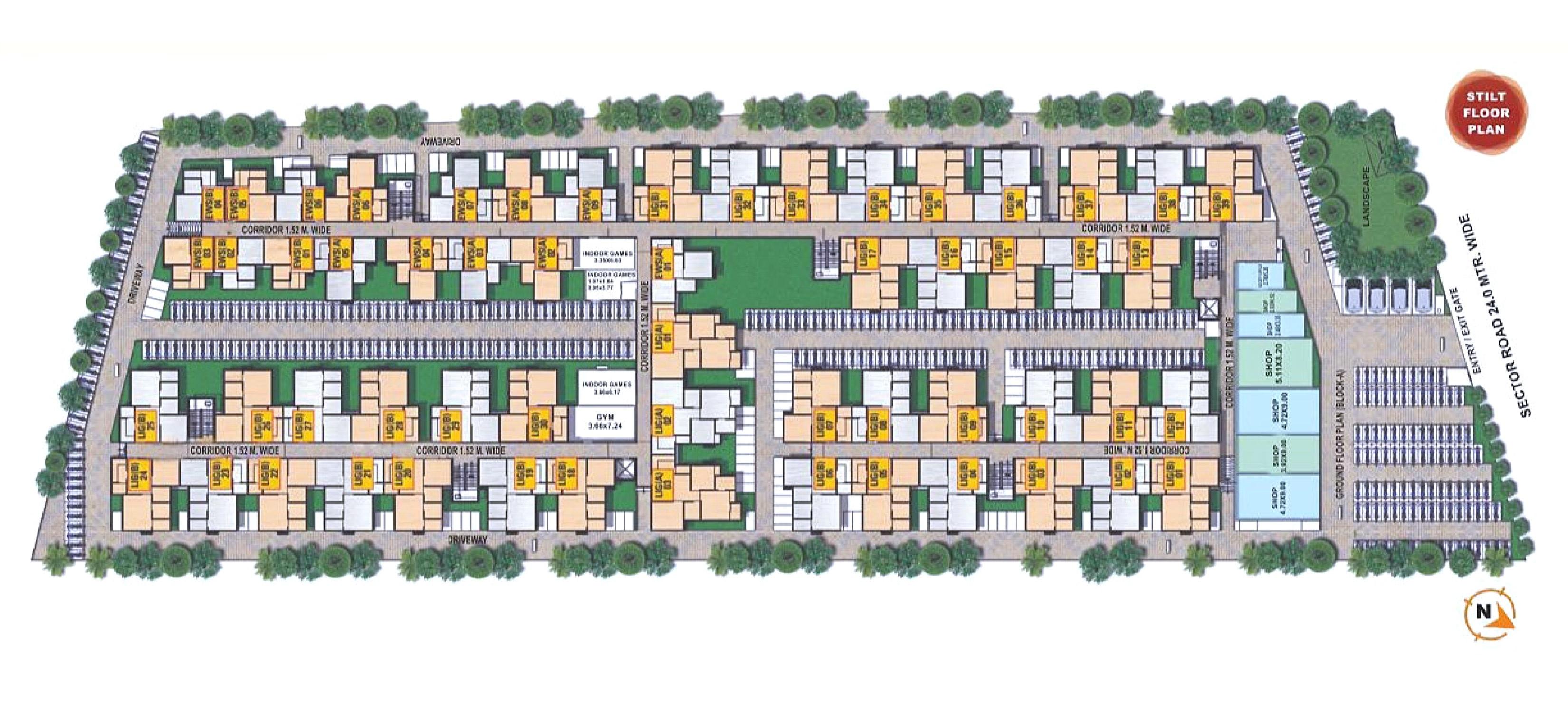 mojika laxmi vihar project master plan image1