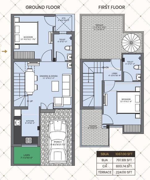 one realty nakshatra floor plans 2bhk 1037.jpg