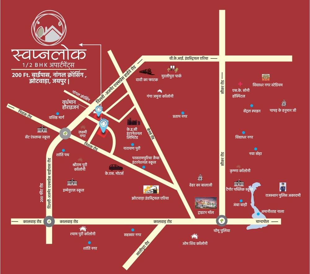 vardhman swapnlok project location image1