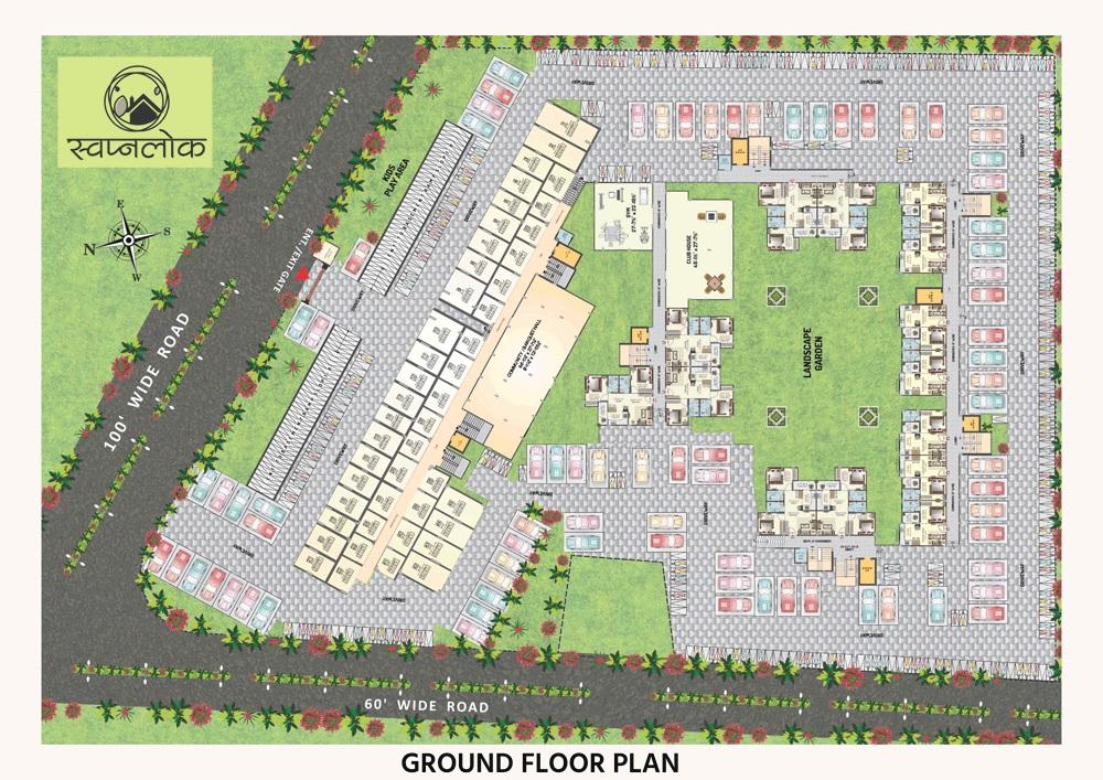 vardhman swapnlok project master plan image1