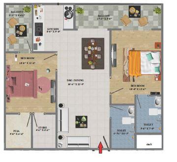 arihant eminent towers apartment 2bhk 1178sqft1