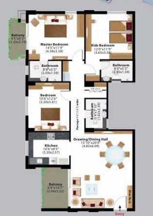 ashiana amantran phase 2 apartment 3 bhk 1130sqft 20203303113336