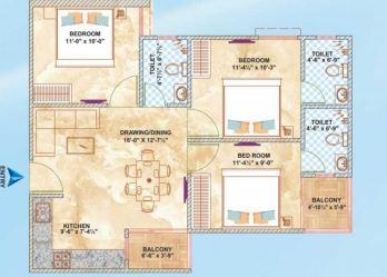brijhari govindam paradise apartment 3bhk 1060sqft31