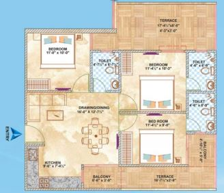brijhari govindam paradise apartment 3bhk 1265sqft51