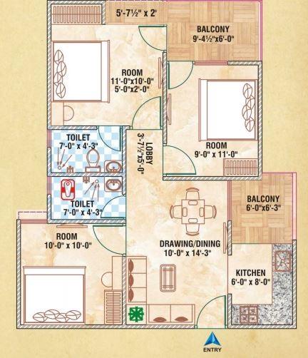 brijhari govindam tower apartment 3 bhk 845sqft 20201220171246