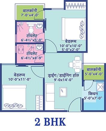 elegant vaishali utsav apartment 2bhk 468sqft31
