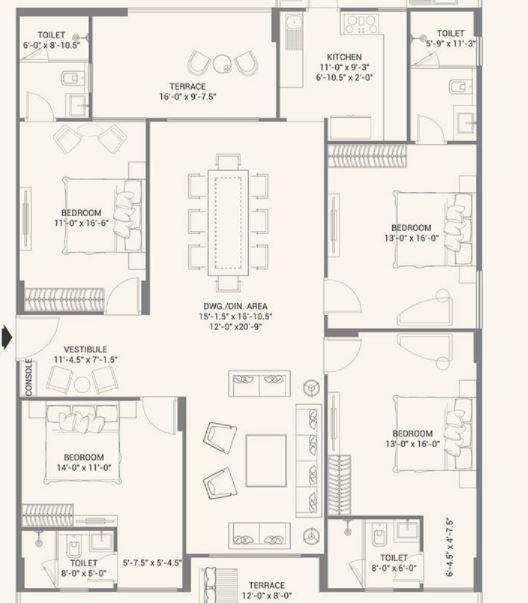 fs realty jaypore apartment 4 bhk 1795sqft 20203626163648