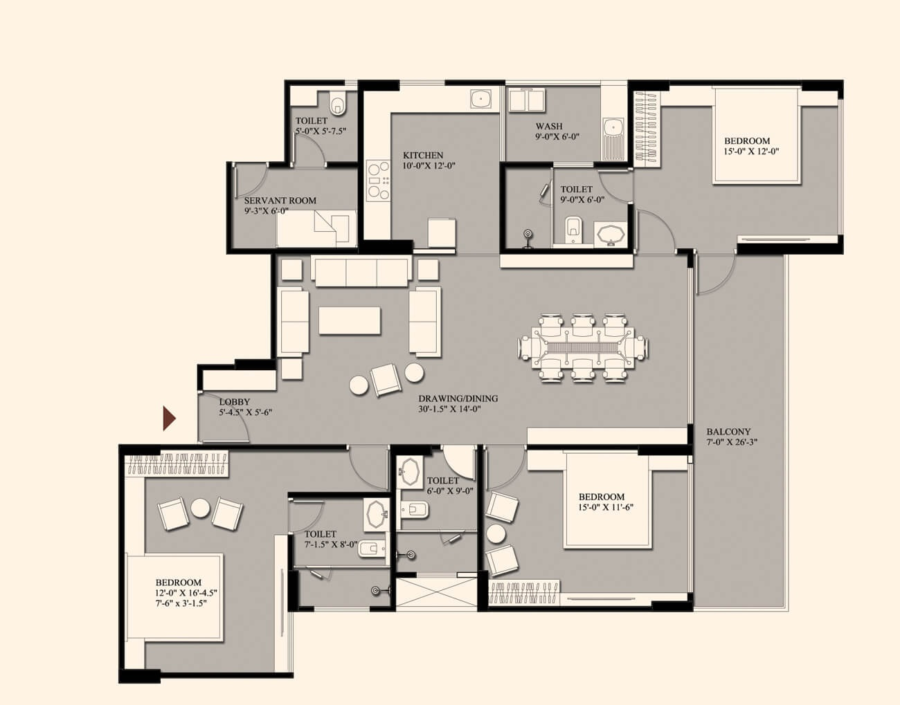 fs realty the crest apartment 3 bhk 1417sqft 20205626145658
