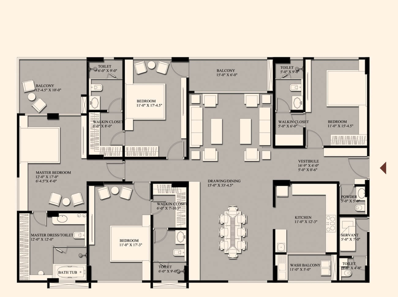 fs realty the crest apartment 3 bhk 2007sqft 20205726145752
