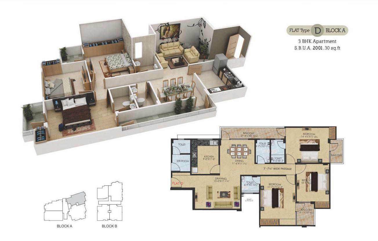 guman eternity apartment 3bhk 2001sqft81