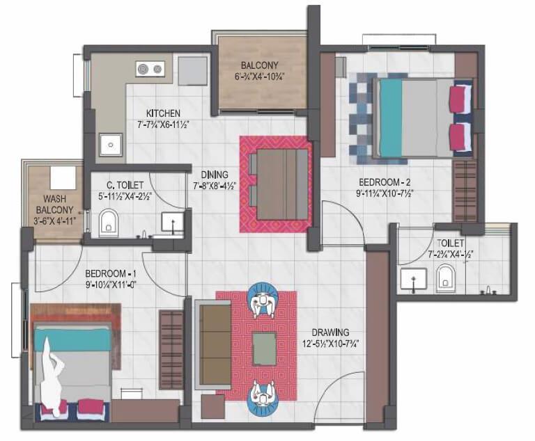 mahima uday apartment 2bhk 537sqft 1