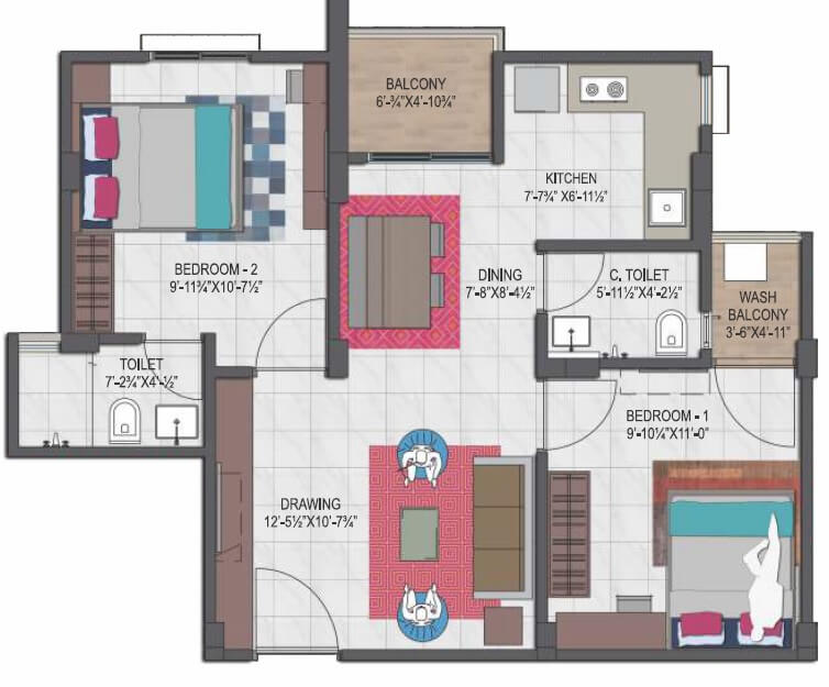 mahima uday apartment 2bhk 538sqft 1