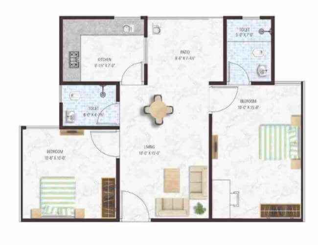 manglam aadhar apartment 2bhk 618sqft 1