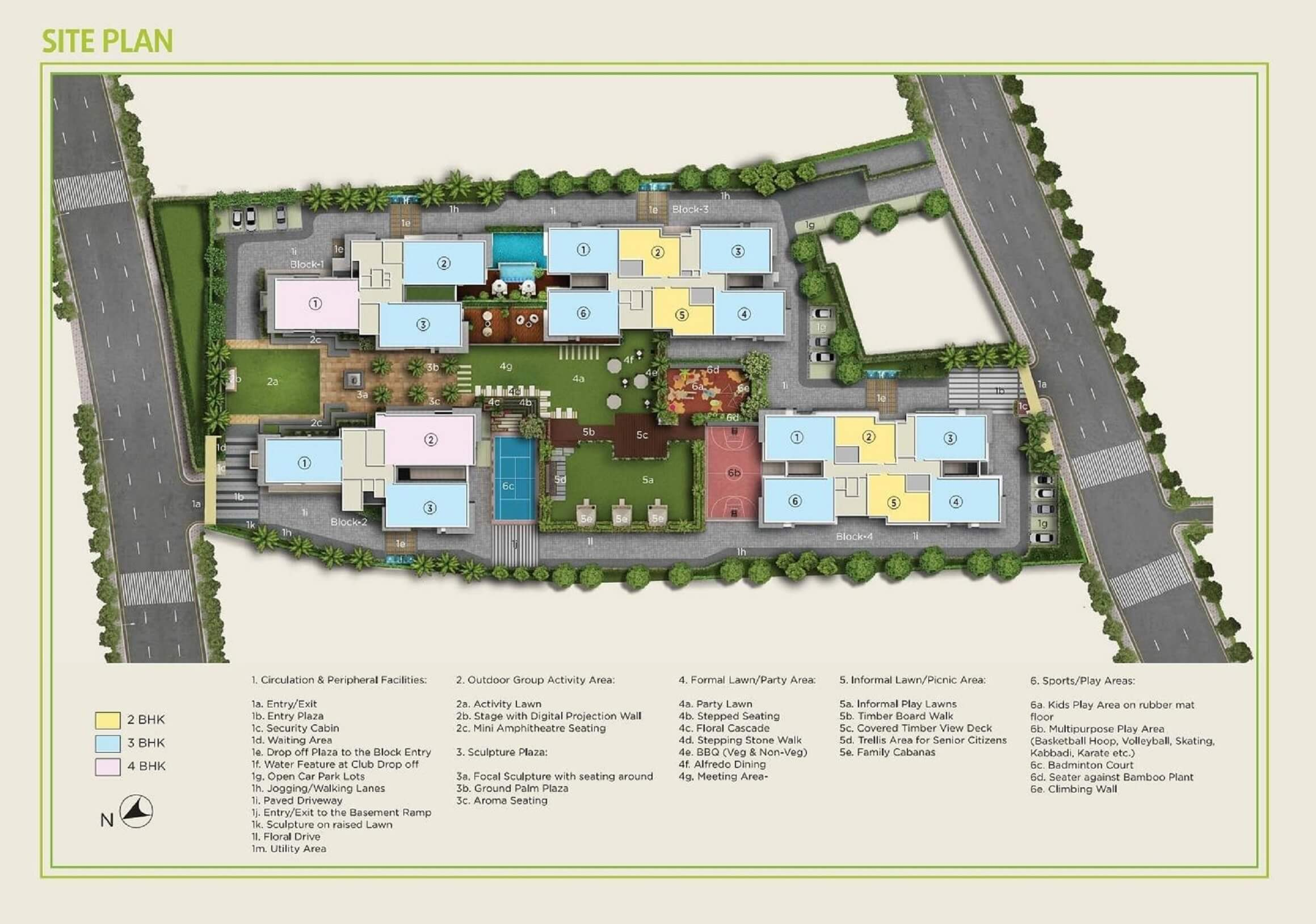amit realty and shree rsh group ecos master plan image1
