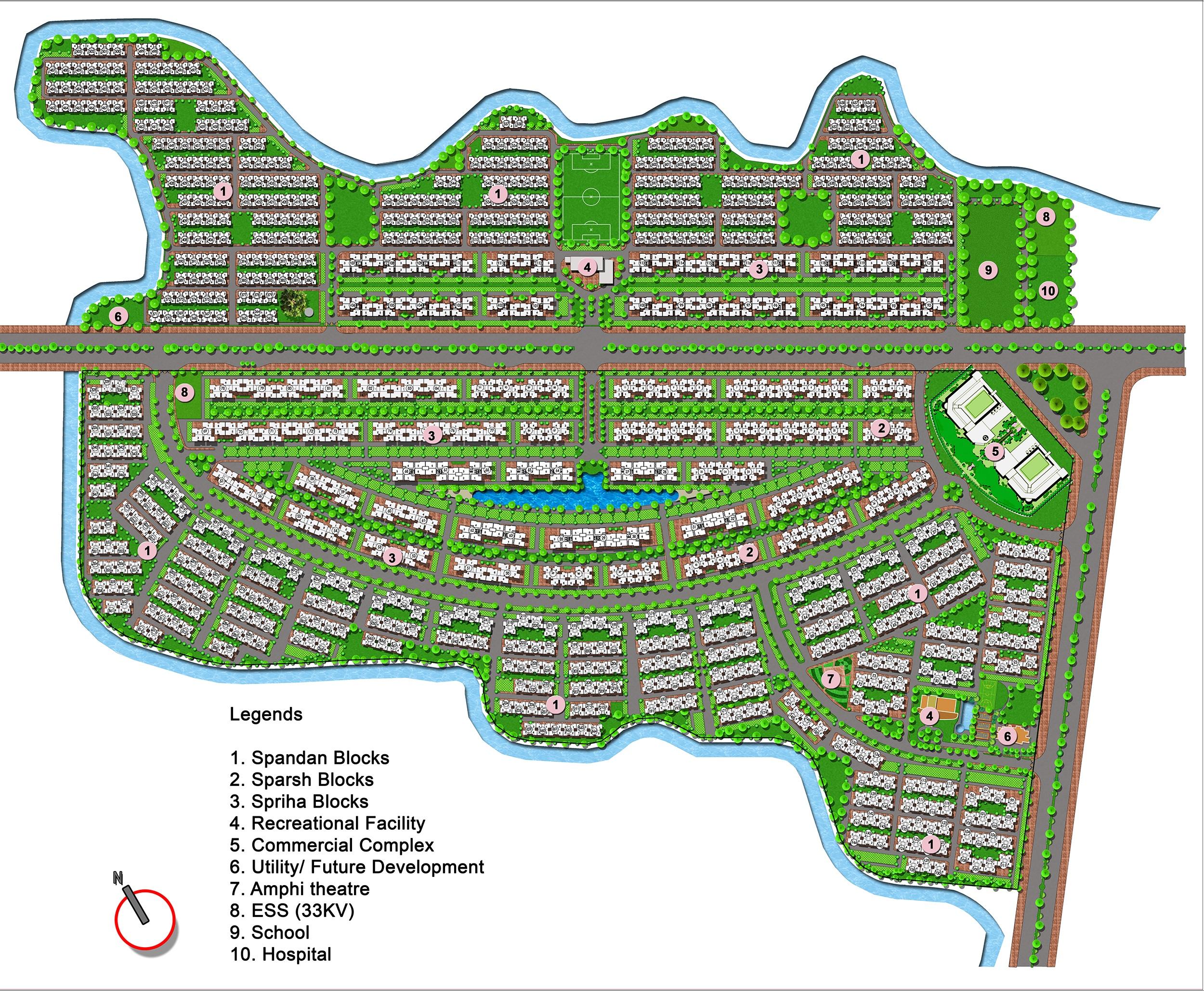 shapoorji pallonji shukho brishti project master plan image1