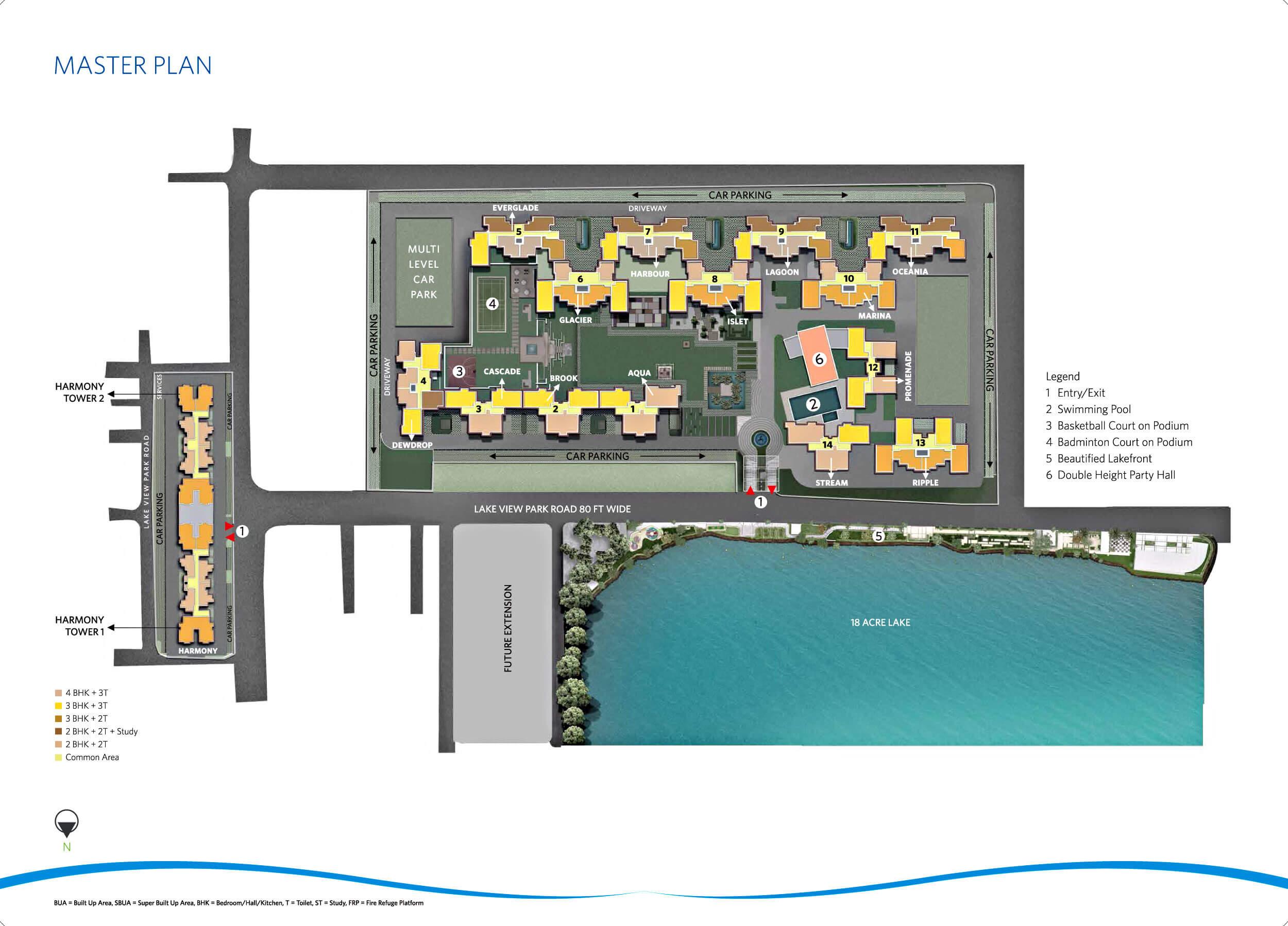 siddha eden lakeville master plan image1