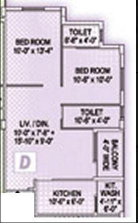 akshara pearl apartment 2bhk 950sqft