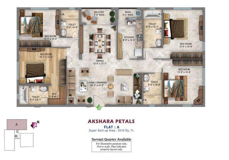 akshara petals apartment 4bhk 2510sqft