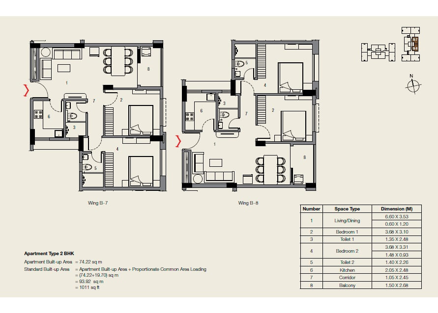 ambuja neotia udvita apartment 2bhk 1011sqft 1