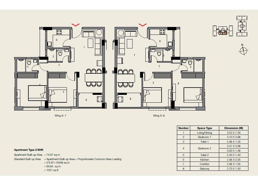 ambuja neotia udvita apartment 2bhk 1021sqft 1