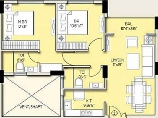 amit realty and shree rsh group ecos apartment 2bhk 1060sqft 1