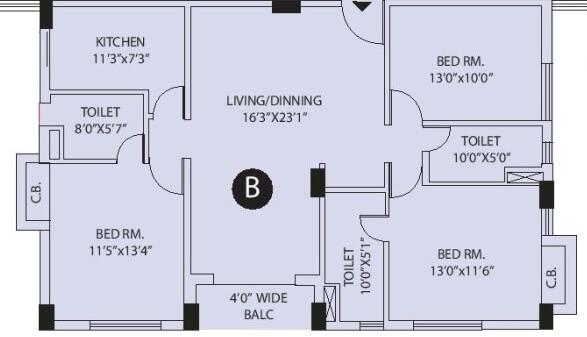 arya park imperial apartment 3bhk 1733sqft 1