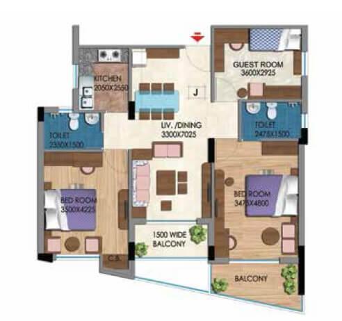 belani zest apartment 3bhk 1497sqft 1