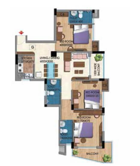 belani zest apartment 3bhk 1555sqft 1