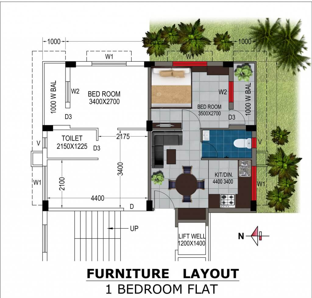 bga amrita abashan iii apartment 1bhk 455sqft 1