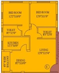 daffodil duke residency apartment 2bhk 1186sqft