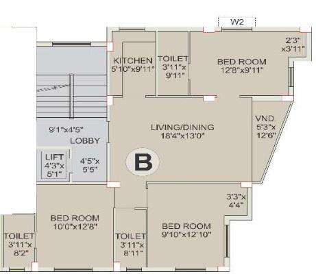 eden symphony apartment 3bhk 1319sqft