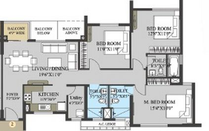 elita garden vista phase ii apartment 3bhk 1588sqft 1