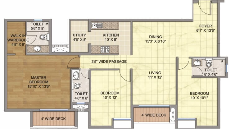 emami emami city apartment 3bhk 1878sqft1