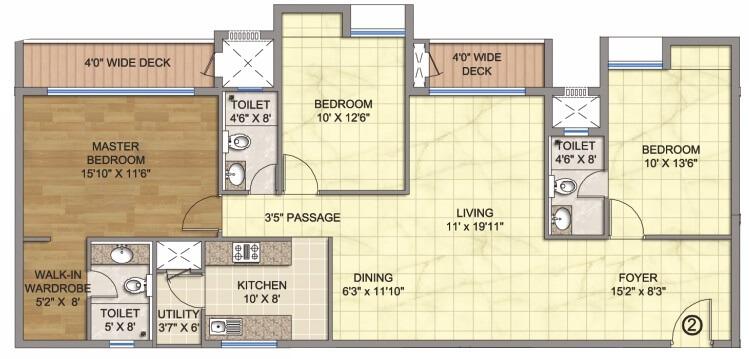 emami emami city apartment 3bhk 1920sqft1