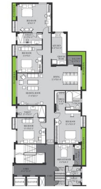 fort elanta apartment 4bhk 2863sqft