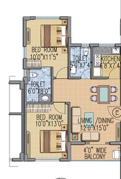 fort oasis apartment 2bhk 728sqft 1