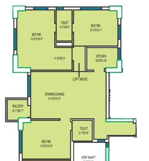 fort oasis apartment 3bhk 1588sqft 1