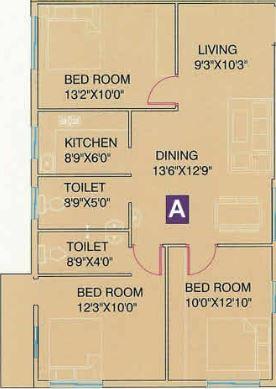 gm meena florence apartment 3bhk 1207sqft