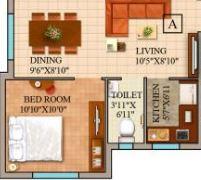 gm meena wood apartment 2bhk 866sqft