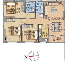 loharuka urban greens apartment 3bhk 1003sqft 1