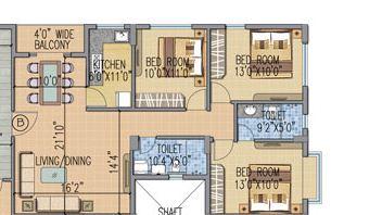 loharuka urban greens apartment 3bhk 1065sqft 1