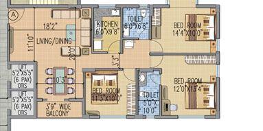 loharuka urban greens apartment 3bhk 1118sqft 1