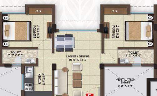magnolia destiny apartment 2bhk 775sqft 1