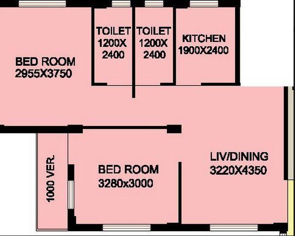 mayfair housing mayfair venus ii apartment 2bhk 1060sqft