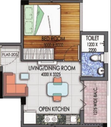 mayfair housing platinum apartment 1bhk 625sqft