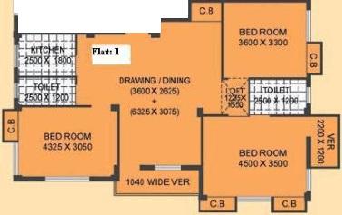 mayfair housing tulip apartment 3bhk 1550sqft